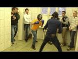 Азер в синем ,против дага в желтом, студенческий бой.